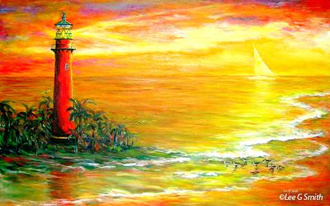 Paintings Of Lighthouse Scenes By Lee G Smith