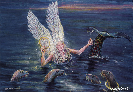 Angels Mermaids And Doll Paintings By Lee G Smith